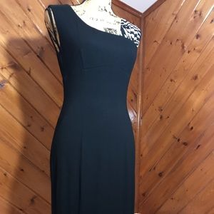 Black fitted cocktail dress by Cache